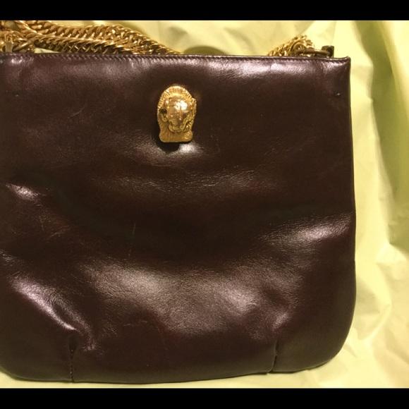 Ruth Saltz Handbags - Ruth Saltz vintage 'Cougar' handbag. Brown & gold